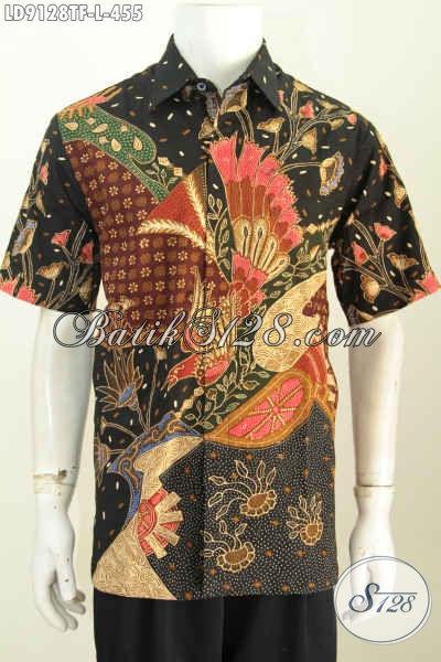 Produk Batik Pria Koleksi 2018, Hadir Dengan Desain Berkelas Motif Bagus Proses Tulis Lengan Pendek Full Furing 400 Ribuan [LD9128TF-L]