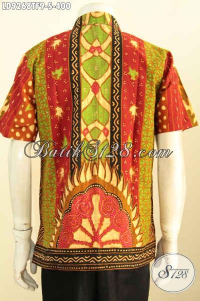 Baju Batik Kerja Elegan Motif Klasik Sinaran Proses Tulis, Produk Batik Etnik Istimewa Desain Terbaru Pria Tampil Tampan Mempesona [LD9268TF-S]