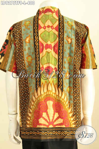 Toko Pakaian Batik Premium, Sedia Kemeja Lengan Pendek Elegan Full Furing Motif Sinaran Yang Bikin Penampilan Tampan Dan Berwibawa [LD9275TF-L]