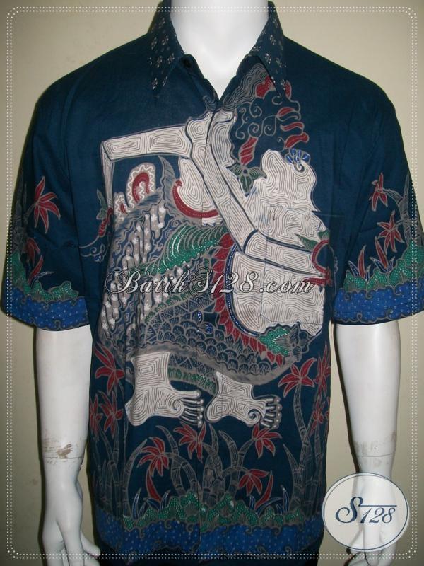 Batik Semar, Batik Tulis Pria Motif Wayang Semar Lengan Pendek [LD929T-XL]