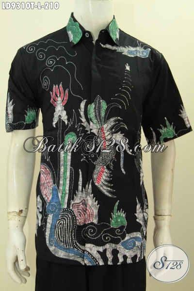 Batik Hem Elegan Pria, Baju Batik Halus Motif Terbaru Proses Tulis Nan Keren Yang Membuat Lelaki Terlihat Ganteng Maksimal [LD9310T-L]