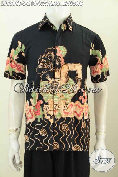 Hem Batik Tulis Keren Motif Wayang Bagong, Baju Batik Solo Lengan Pendek Halus Dan Istimewa, Cocok Buat Gaul [LD9395T-S]