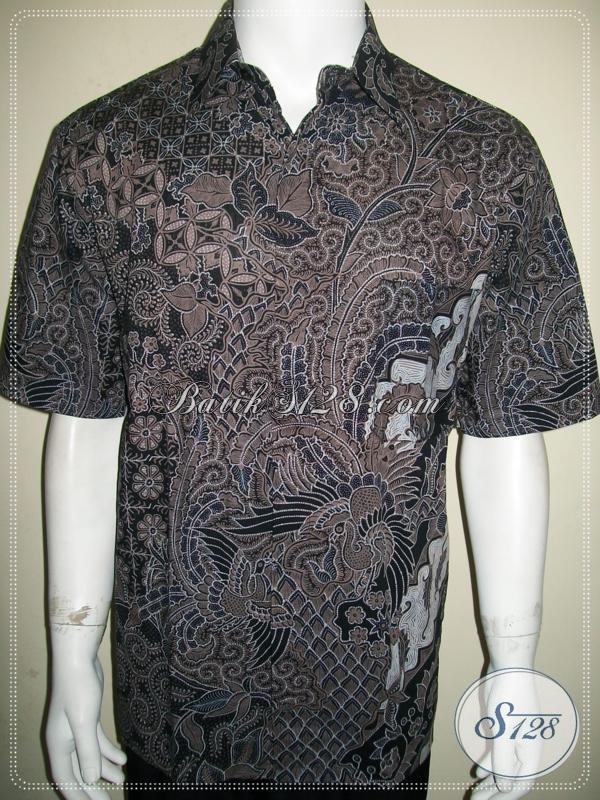 Batik Solo Modern Pria Lengan Pendek, Mewah Berkualitas, Jahitan Bagus [LD940BT-L]