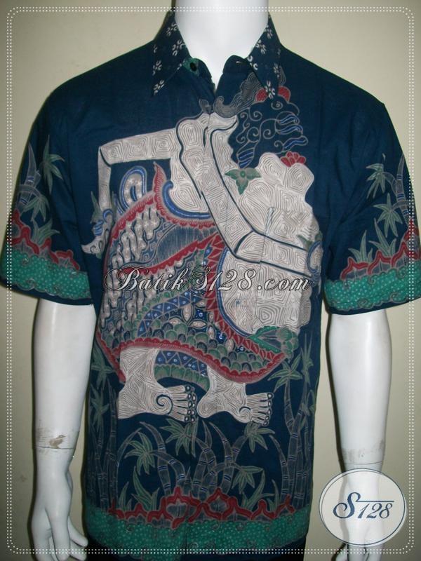 Hem Batik Wayang Motif Semar Ukuran L, Batik Tulis Wayang Modern [LD942T-L]