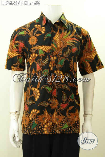 Hem Batik Kombinasi Tulis, Pakaian Batik Kerja Pria Muda Dan Dewasa Lengan Pendek Motif Terkini Hanya 145K [LD9472BT-L]
