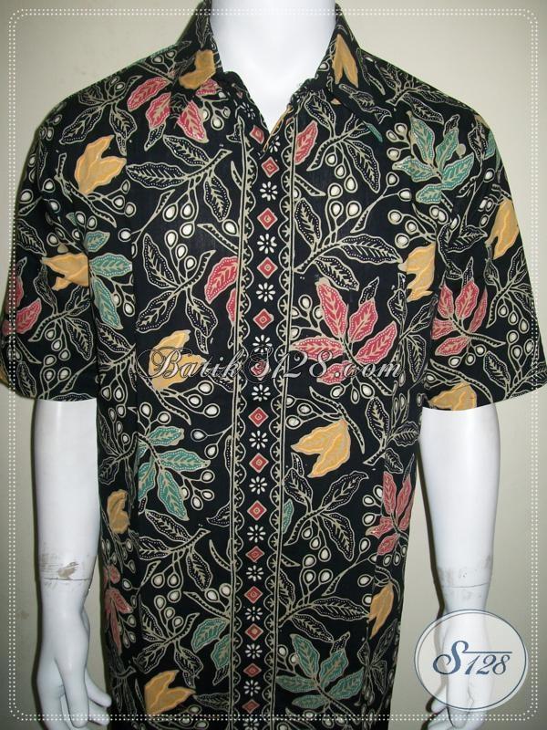Koleksi Batik Pria Motif Daun, Batik Mewah Elegan Berkelas [LD951CT-XL]