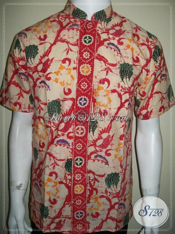 Hem Koko Batik Lengan Pendek Pria, Batik Solo Modern [LD986CTK-M]