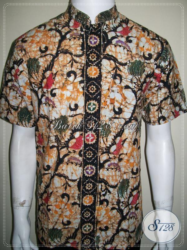Kemeja Batik Koko Modern Pria Tangan Pendek [LD987CTK-MXL]