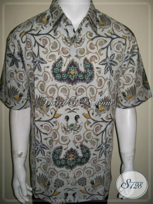 Batik Pria Tradisional Modern Wahyu Tumurun, Men Shirt Traditional Indonesia [LD990CT-XL]