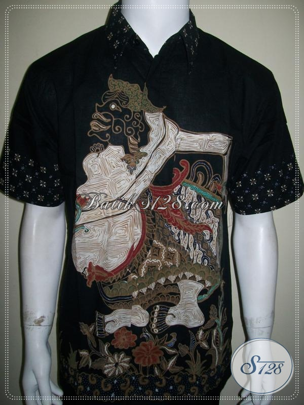 Batik Semar, Kemeja Batik Wayang, Batik Tulis Lengan Pendek [LD996T-L]