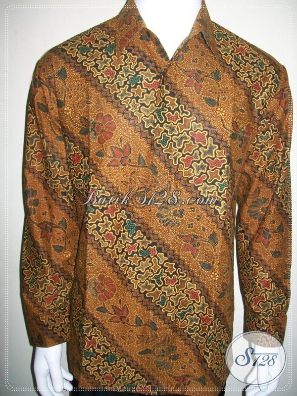 Kemeja Batik Pria Lengan Panjang Murah 100 Ribuan, Motif Klasik Parang Jahe [LP1014P-XL]