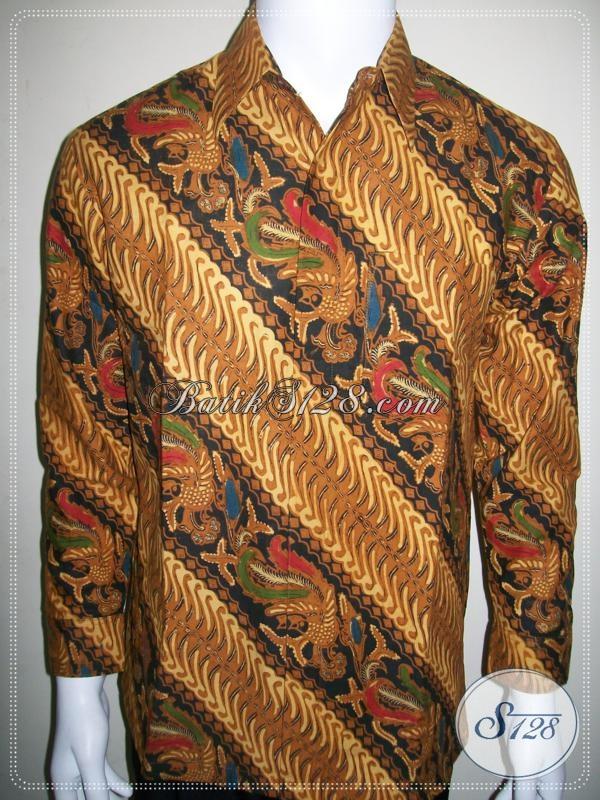 Baju Batik Pria Motif Parang Lengan Panjang, Klasik Tradisional [LP1015BT-M]