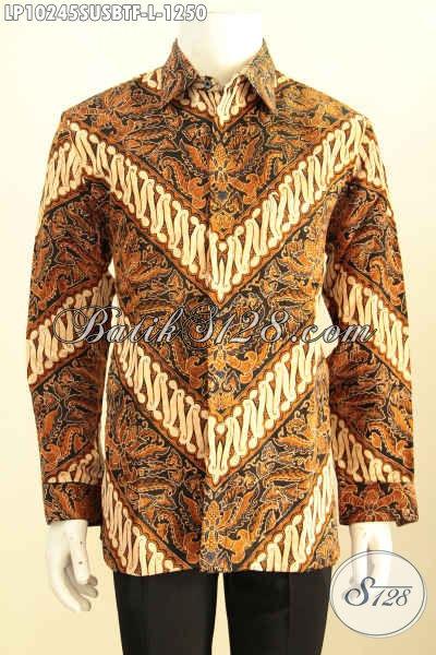 Model batik pria gaul modern masa kini terbaru, bahan sutra