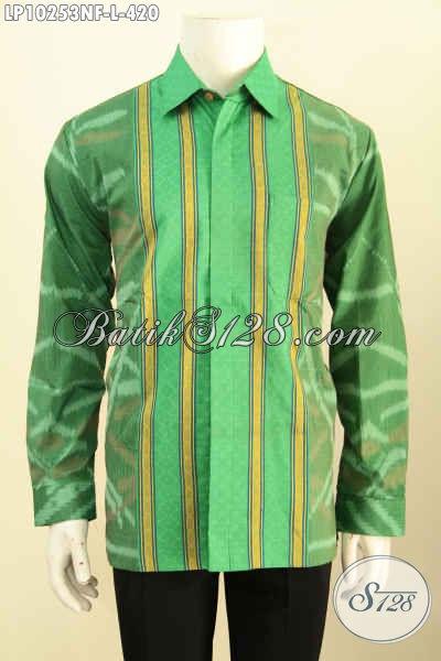 Model Baju Tenun Kwalitas Premium, Busana Tenun Halus Nan Mewah Lengan Panjang Full Furing Yang Bikin Penampilan Mewah Berkelas, Size L