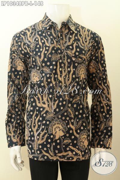 Model Baju Batik Lengan Panjang Pria Motif Klasik Di Jual Online, Hem Batik Kerja Nan Istimewa Bahan Adem Hanya 100 Ribuan [LP10348PB-L]