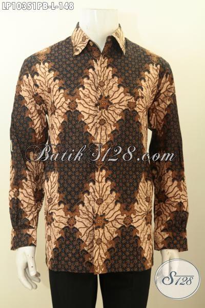 Model Baju Batik Hem Buatan Solo Asli, Kemeja Lengan Panjang Halus Motif Klasik Printing Cabut, Di Jual Online 148 Ribu Ukuran L