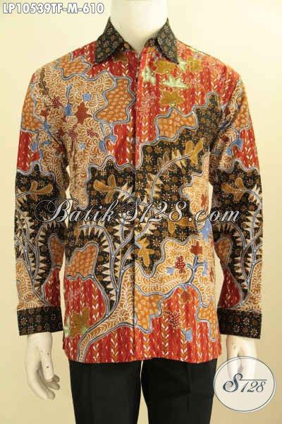 Model Baju Batik Lengan Panjang Pria Size M, Kemeja Batik Premium Full Furing Motif Klasik Tulis Asli Harga 610K [LP10539TF-M]