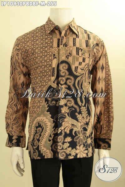 Baju Batik Halus Bahan Dolby, Kemeja Lengan Panjang Elegan Warna Klasik Motif Bagus Kwalitas Istimewa Daleman Full Furing Hanya 200 Ribuan Saja [LP10930PBDBF-M]