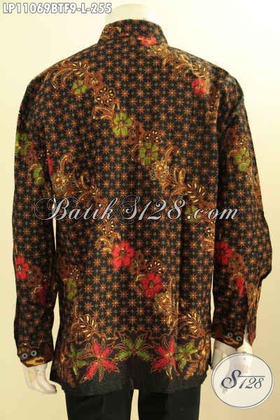 Toko Online Produk Batik Paling Up To Date, Sedia Kemeja Batik Resmi Lengan Panjang Daleman Full Furing, Bahan Halus Motif Klasik Kombinsi Tulis Hanya 200 Ribuan [LP11069BTF-L]