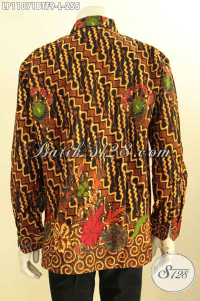 Busana Batik Elegan Motif Klasik, Kemeja Batik Halus Full Furing Proses Kombinasi Tulis, Bikin Pria Terlihat Gagah Dan Tampan [LP11071BTF-L]