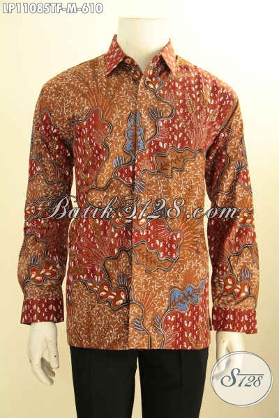Kemeja Batik Solo Halus Lengan Panjang Full Furing, Pakaian Batik Modis Motif Bagus Tulis Asli, Istimewa Untuk Kondangan Dan Rapat
