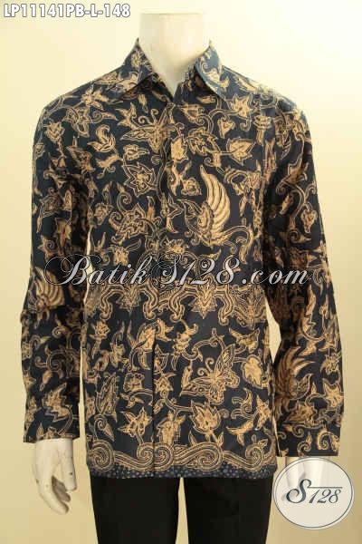 Jual Batik Kemeja Solo Lengan Panjang Bahan Adem Motif Unik, Pakaian Batik Pria Yang Menunjang Penampilan Gagah Menawan Hanya 100 Ribuan