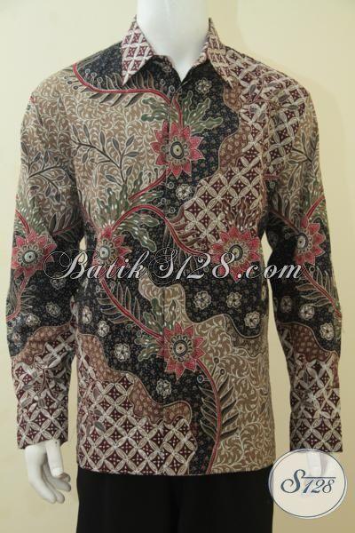 Kemeja Batik Klasik Modern, Baju Batik Pria Dewasa Desain ...