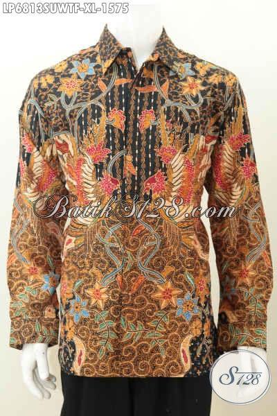 Model baju batik pria masa kini lengan panjang modern