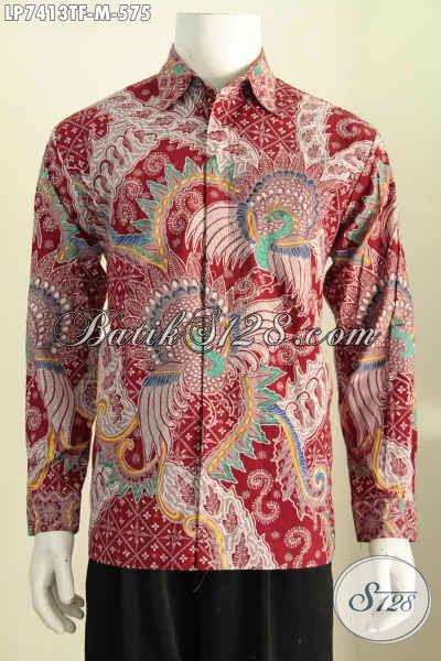 Hem Batik Tulis Pria Premium, Kemeja Batik Lengan Panjang Full Furing Kwalitas Istimewa Harga 500 Ribuan [LP7413TF-M]