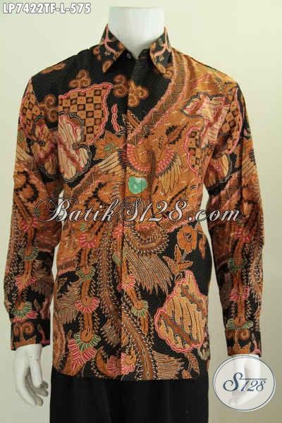 Hem Batik Premium, Baju Batik Mahal Kwalitas Istimewa Model Lengan Panjang Motif Mewah Full Tulis Daleman Pakai Furing Tampil Gagah Bak Pejabat [LP7422TF-L]