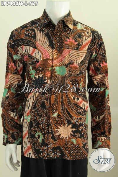 Baju Kemeja Batik Lengan Panjang Elegan, Hem Batik Klasik Full Furing Ukuran L Di Jual Online 575 Ribu [LP7430TF-L]