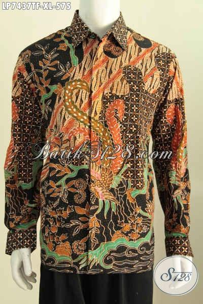 Toko Online Baju Batik Terlengkap, Sedia Kemeja Lengan Panjang Full Furing Motif Mewah Proses Tulis Harga 575K [LP7437TF-XL]