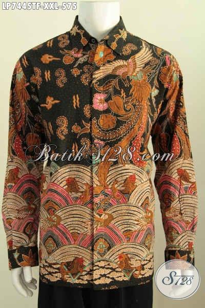 Hem Batik Istimewa, Pakaian Batik Halus Lengan Panjang Motif Klasik Full Furing, Berbahan Adem Proses Tulis Di Jual 575K [LP7445TF-XXL]