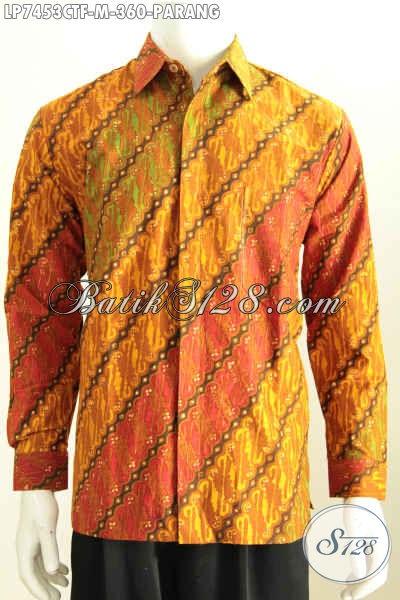 Hem Batik Parang Klasik, Busana Batik Formal Halus Lengan Panjang Full Furing Proses Cap Tulis, Elegan Buat Kondangan [LP7453CTF-M]