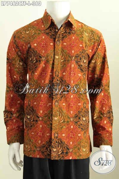 Sedia Baju Batik Seragam Kerja Pria Size L Lengan Panjang Full Furing Motif Klasik Proses Cap Tulis Harga 360K [LP7462CTF-L]