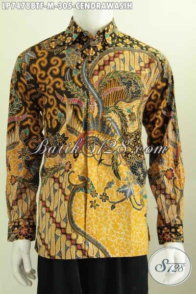 Kemeja Batik Klasik Motif Mewah Bahan Adem Proses Kombinasi Tulis, Hadir Dengan Model Lengan Panjang Full Furing Harga 305K [LP7478BTF-M]