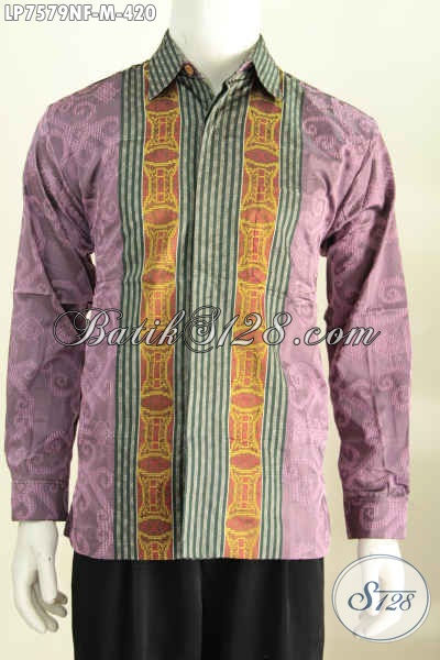 Hem Lengan Panjang Istimewa, Produk Baju Berbahan Tenun Premium Daleman Full Furing Tampil Gagah Bak Pejabat [LP7579NF-M]
