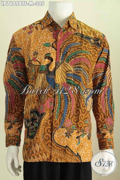 Baju Hem Batik Solo Mewah Lengan Panjang, Busana Batik Istimewa Buatan Solo Trend Motif Terkini Daleman Pakai Furing Hanya 305 Ribu [LP7689BTF-M]