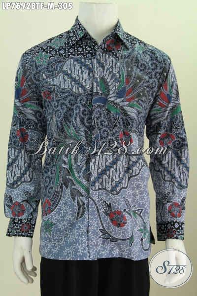Pakaian Batik Kwalitas Premium 300 Ribuan, Baju Batik Full Furing Lengan Panjangh Bahan Adem Proses Kombinasi Tulis [LP7692BTF-M]