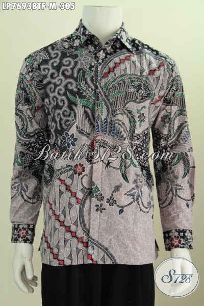 Pusat Baju Batik Istimewa Lengan Panjang, Produk Kemeja Batik Berkelas Full Furing Untuk pria Tampil Lebih Berwibawa [LP7693BTF-M]