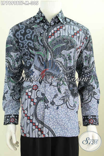 Baju Batik Halus Motif Mewah, Kemeja Batik Klasik Lengan Panjang Buatan Solo Untuk Penampilan Makin Gagah Daleman Full Furing [LP7699BTF-M]