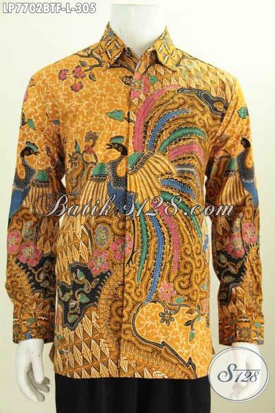 Hem Batik Solo Halus Proses Kombinasi Tulis, Pakaian Batik Berkelas Lengan Panjang Full Furing, Cocok Buat Rapat Dan Kondangan [LP7702BTF-L]