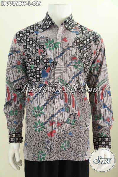 Online Shop Pakaian Batik Pria, Sedia Kemeja Batik Solo Lengan Panjang Kwalitas Premium Harga Minimum Daleman Full Furing [LP7705BTF-L]