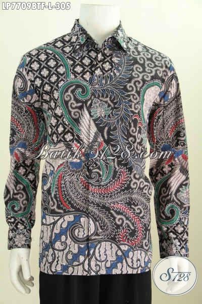 Jual Hem Batik Online Pilihan Komplit, Baju Batik Lengan Panjang Full Furing Kwalitas Premium Bahan Adem Untuk Kerja Dan Acara Formal [LP7709BTF-L]