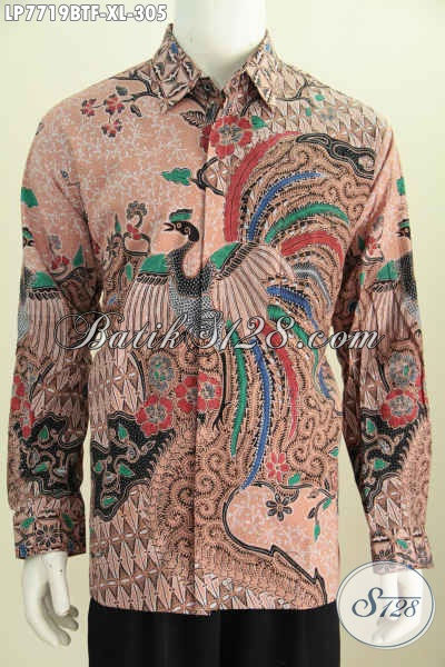 Hem Batik Elegan Pas Buat Rapat, Baju Batik Lengan Panjang Istimewa Full Furing Asli Buatan Solo, Cocok Juga Untuk Kondangan [LP7719BTF-XL]