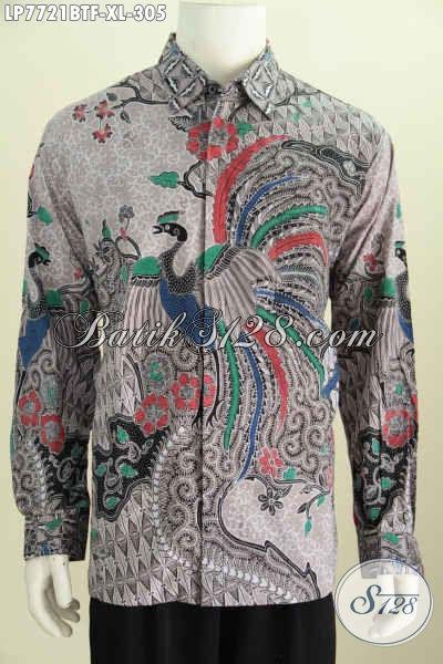 Sedia Baju Batik Kerja Motif Bagus, Hem Batik Kombinasi Tulis Kwalitas Premium Model Lengan Panjang Full Furing Hanya 300 Ribuan [LP7721BTF-XL]