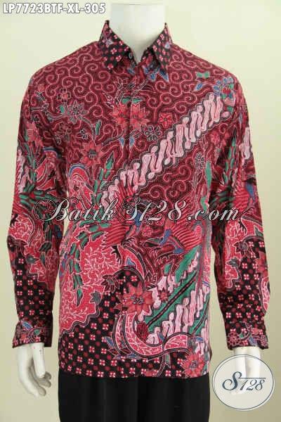 Kemeja Batik Lengan Panjang Halus Proses Kombinasi Tulis, Pakaian Batik Elegan Untuk Penampilan Lebih Macho Dan Tampan Harga 305 Ribu [LP7723BTF-XL]