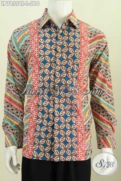 Baju Batik Modern Klasik Nan Istimewa, Baju Batik Solo Untuk Lelaki Muda Dan Dewasa Tampil Beda Dan Gaya [LP7855CT-L]