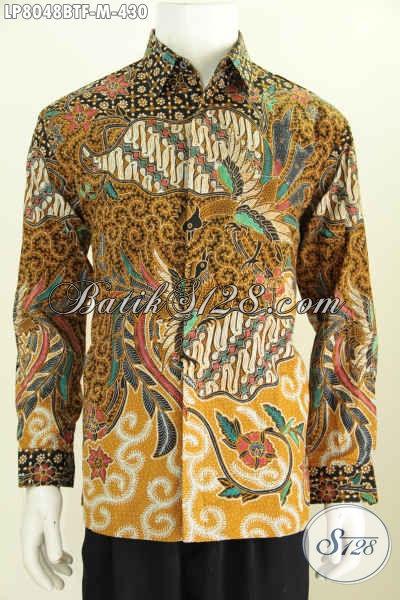 Online Shop Pakaian Batik Jual Hem Klasik Lengan Panjang Full Furing Kwalitas Premium Buatan Solo Proses Kombinasi Tulis Harga 400 Ribuan [LP8048BTF-M]