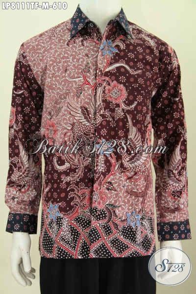 Jual Online Kemeja Batik Solo Premium Lengan Panjang Ful Furing Motif Terkini Proses Tulis Untuk Penampilan Lebih Berwibawa [LP8111TF-M]